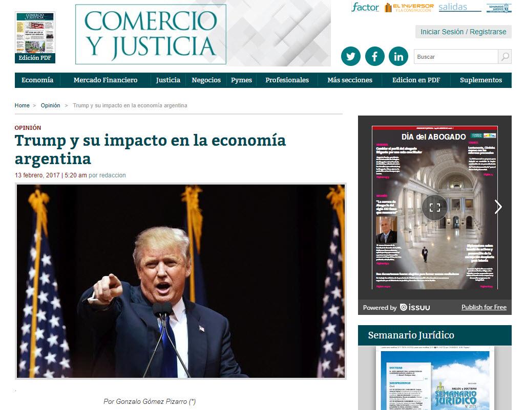 Diario Comercio y Justicia: Trump y su impacto en la economía ...